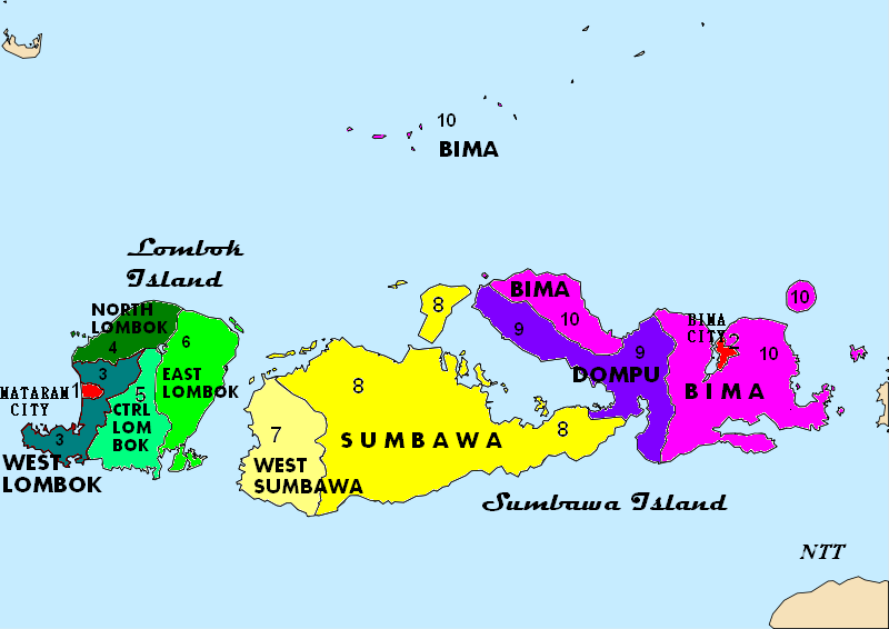 Peta Nusa Tenggara Barat - Potensi Wisata di Nusa Tenggara Barat selain Lombok