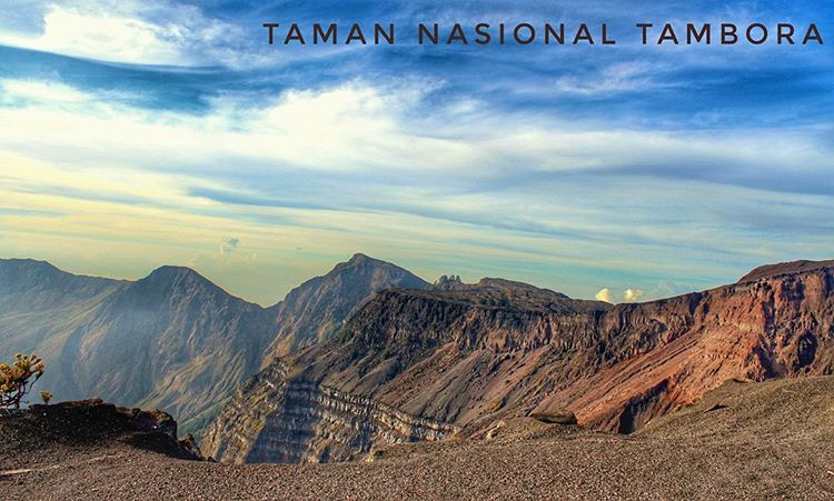 Gunung tambora di ntb