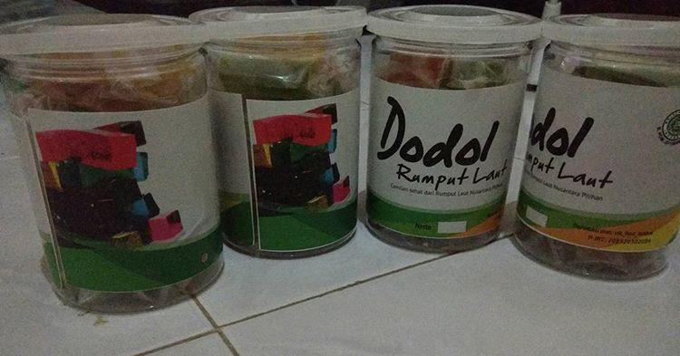 Dodol rumput laut, oleh oleh makanan khas lombok nusa tenggara barat