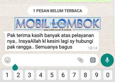 Testimoni sewa transport lombok