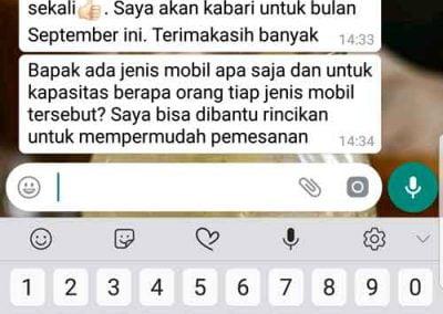Testimoni rental mobil lombok