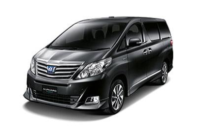Sewa Toyota All New Alpard Hitam di Lombok